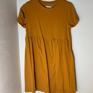 Urban Outfitters mustard yellow baby doll dress